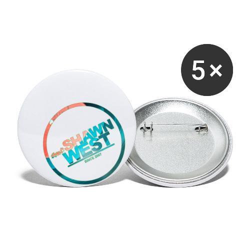 SHAWN WEST DISC JOKEY STYLE - Buttons klein 25 mm (5er Pack)