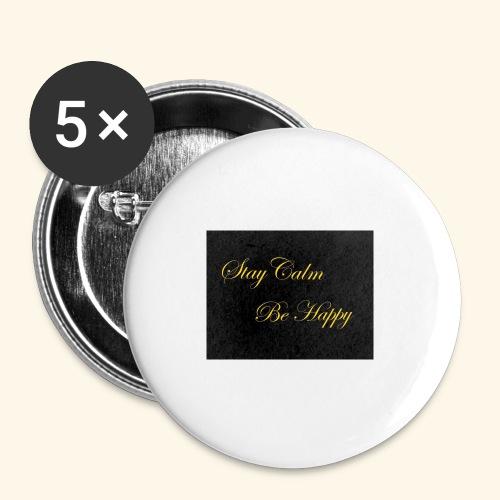 Be Happy - Lot de 5 petits badges (25 mm)