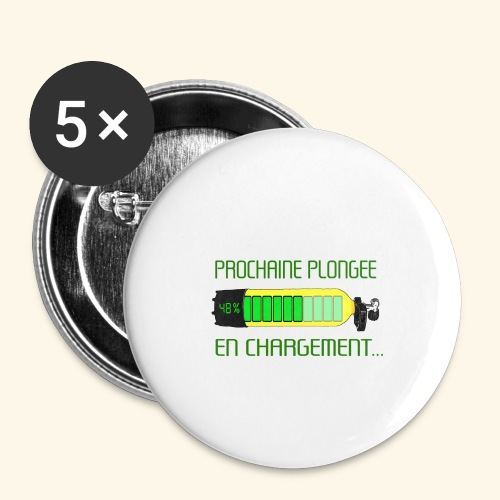 plongee en charge - Buttons small 1''/25 mm (5-pack)