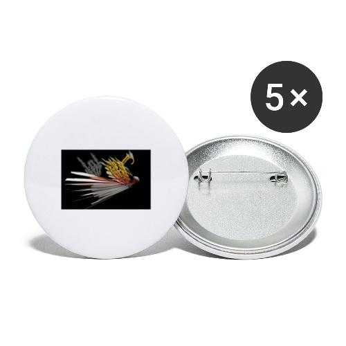 Abstarct Bird and Skeleton Hand - Buttons small 1''/25 mm (5-pack)