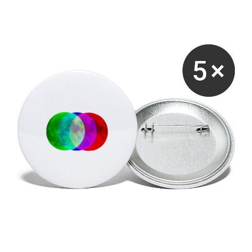 RGB moon - Przypinka mała 25 mm (pakiet 5 szt.)