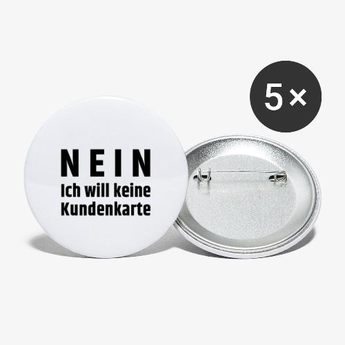 Kundenkarte - Buttons klein 25 mm (5er Pack)