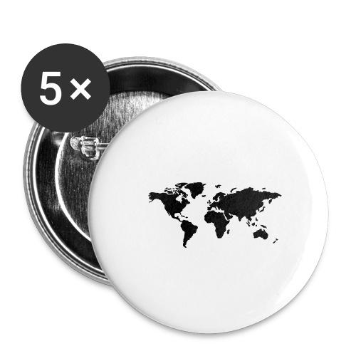 mundo - Paquete de 5 chapas pequeñas (25 mm)