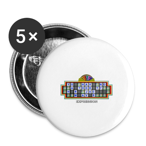 Jackie Weaver Wheel of Fortune - Buttons small 1''/25 mm (5-pack)