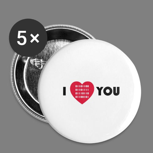 i love you - Buttons klein 25 mm (5er Pack)