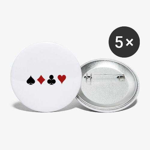 The World of POKER - Buttons klein 25 mm (5er Pack)