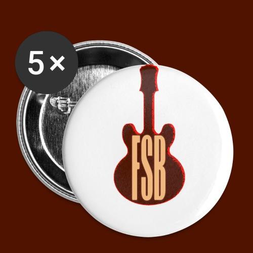 FSB Guitar Logo - Buttons small 1''/25 mm (5-pack)