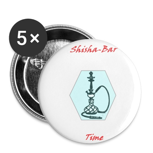 Shisha Bar Time - Buttons small 1''/25 mm (5-pack)
