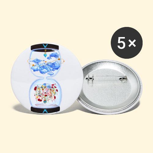 La Colline des Roses - Lot de 5 petits badges (25 mm)