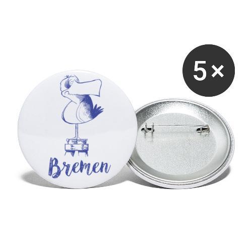 Bremer Möwe - Buttons klein 25 mm (5er Pack)
