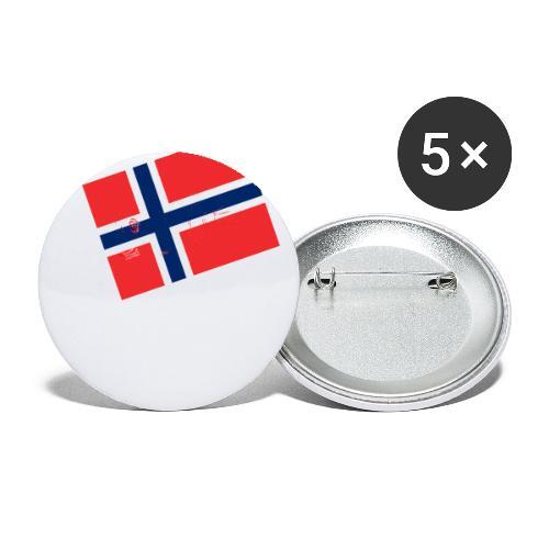 Norwegen Flagge - Buttons klein 25 mm (5er Pack)