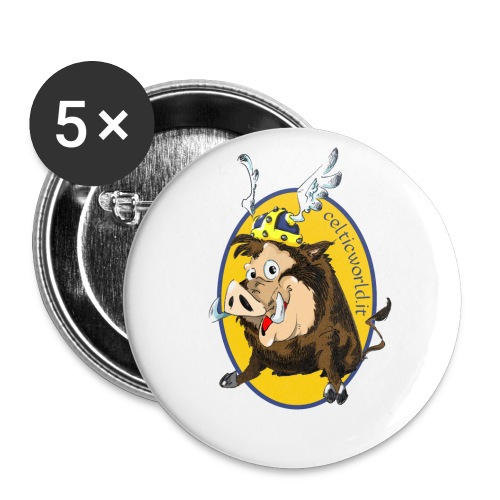 grufolix - Confezione da 5 spille piccole (25 mm)