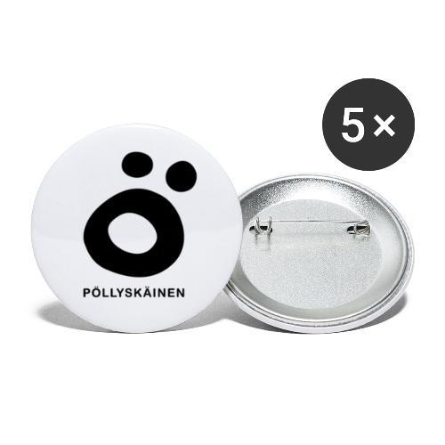 Pöllyskäinen - Rintamerkit pienet 25 mm (5kpl pakkauksessa)