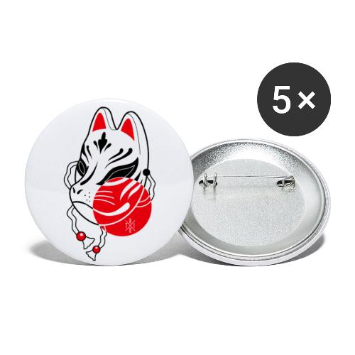 Kitsune - Confezione da 5 spille piccole (25 mm)