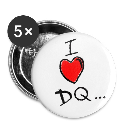 I Heart DQ Logo - Buttons small 1''/25 mm (5-pack)