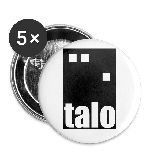 talologo600 mustavalko png - Rintamerkit pienet 25 mm (5kpl pakkauksessa)