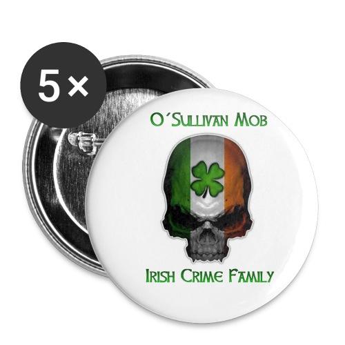 Irish OSM Skull - Buttons klein 25 mm (5er Pack)