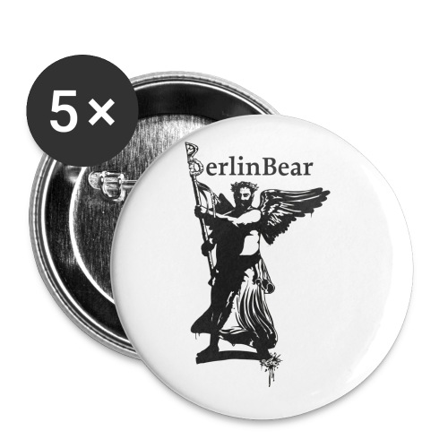 BerlinBear Logo - Buttons klein 25 mm (5er Pack)