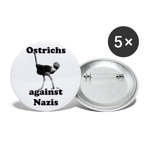 Ostrichsagainstnazis - Buttons klein 25 mm (5er Pack)