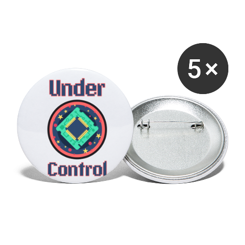 Under control - Buttons small 1''/25 mm (5-pack)