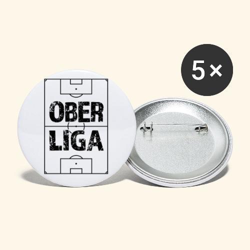 OBERLIGA im Fußballfeld - Buttons klein 25 mm (5er Pack)
