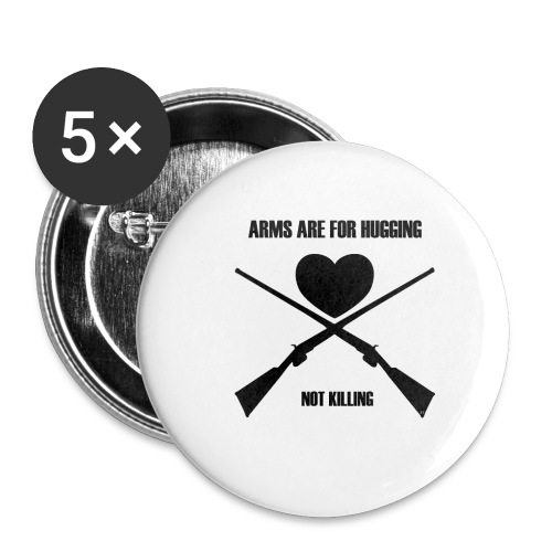 Arms are for hugging 2 - Buttons/Badges lille, 25 mm (5-pack)