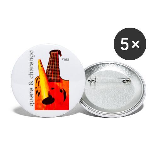 Quena y Charango I bis - Paquete de 5 chapas pequeñas (25 mm)