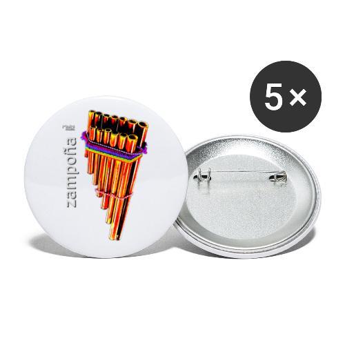 Zampoña Clara - Buttons klein 25 mm (5er Pack)
