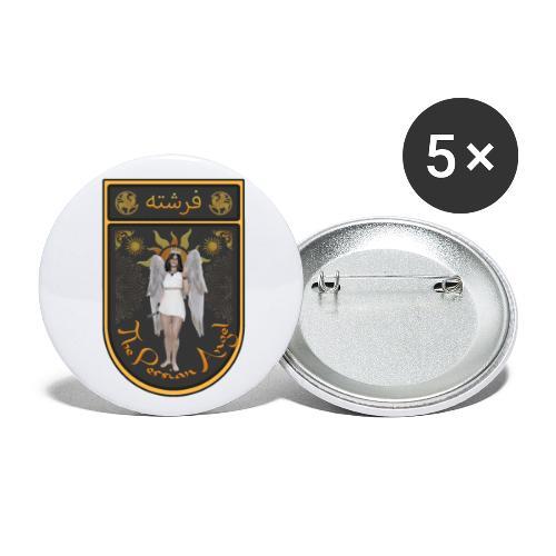 Persian Angel Anahita - Farsi Angel - Buttons small 1''/25 mm (5-pack)