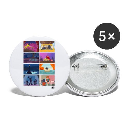 Best Moments - Confezione da 5 spille piccole (25 mm)