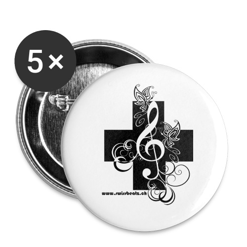Swiss Beatz Logo non L - Buttons klein 25 mm (5er Pack)