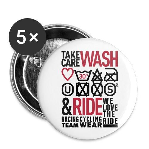 washride 001 ok - Lot de 5 petits badges (25 mm)