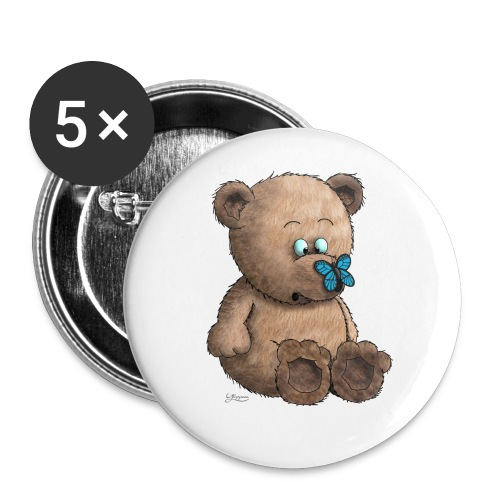 Teddybär - Buttons klein 25 mm (5er Pack)