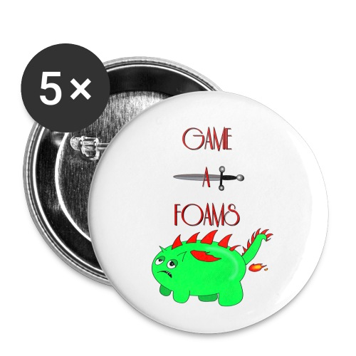 Game a foams - Buttons small 1''/25 mm (5-pack)