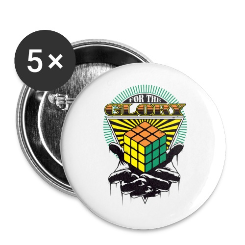 Rubik's For The Glory - Buttons small 1''/25 mm (5-pack)