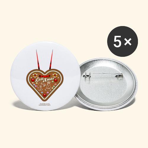 Ugly Christmas Design Last Xmas für Weihnachten - Buttons klein 25 mm (5er Pack)