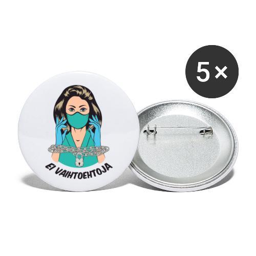 Ei vaihtoehtoja - valmiuslaki - Rintamerkit pienet 25 mm (5kpl pakkauksessa)