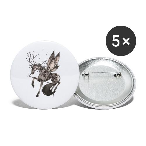 Dragonfly Horse - Ink Collection - Paquete de 5 chapas pequeñas (25 mm)