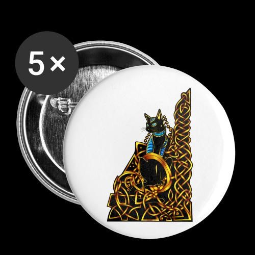 Celtic Cat - sitting - Buttons small 1''/25 mm (5-pack)