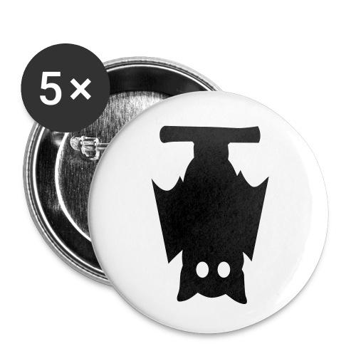 Fledermaus 2 - Buttons klein 25 mm (5er Pack)