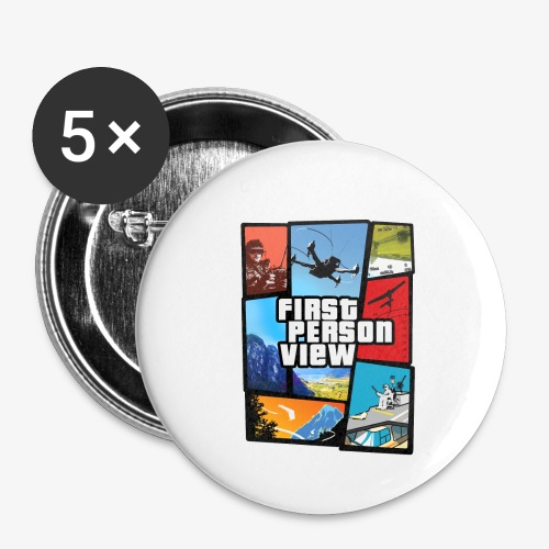 Ultimate Video Game - Buttons small 1''/25 mm (5-pack)