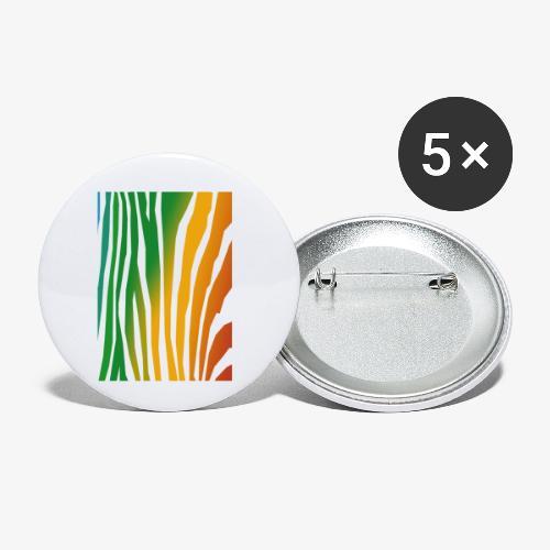 zebralong png - Små knappar 25 mm (5-pack)