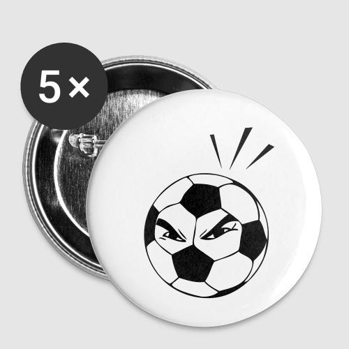 energischer Fußball - Buttons klein 25 mm (5er Pack)