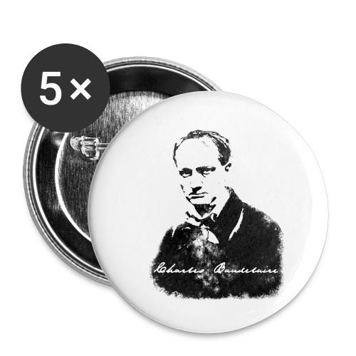 Charles Baudelaire - Lot de 5 petits badges (25 mm)
