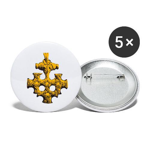 Goldschatz - Buttons klein 25 mm (5er Pack)