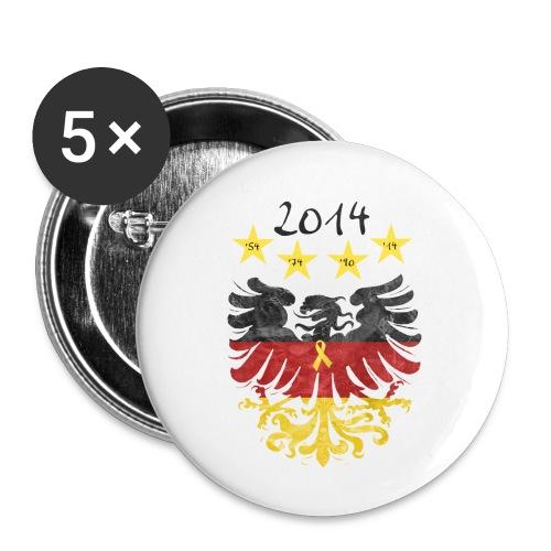 Gelbe Schleife - Buttons klein 25 mm (5er Pack)