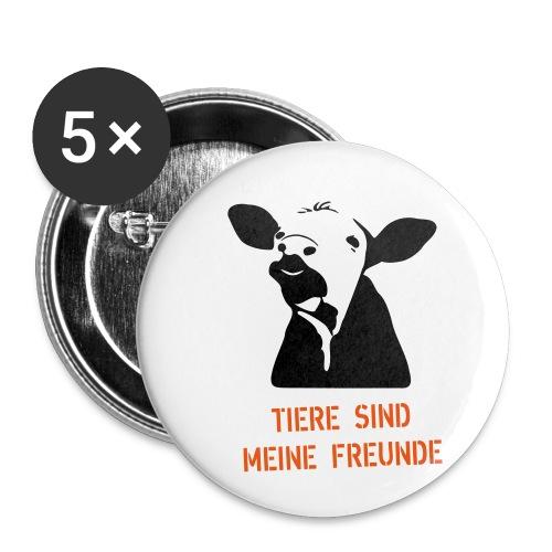 tiere sind meine freunde - Buttons klein 25 mm (5er Pack)