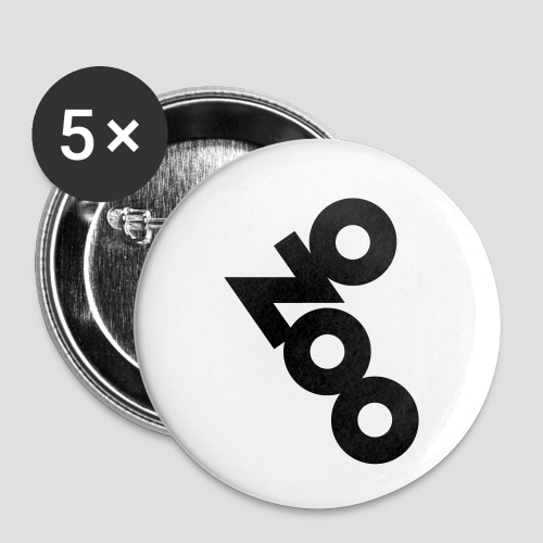 NO ZOO - Buttons klein 25 mm (5er Pack)