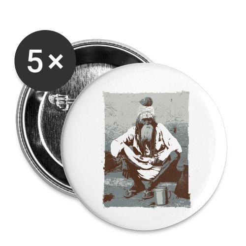 Indian holy man - Sadhu or Sādhu - Buttons small 1''/25 mm (5-pack)