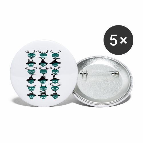 Trachtenrockabilly - Buttons klein 25 mm (5er Pack)